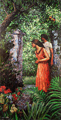 Return To Eden Partial View Art Print by Sandra Bryant