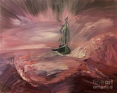 Painting - Return To Shores In Deep Red by Abbie Shores