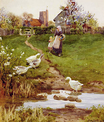 Mother Goose Painting - Returning Home by Thomas James Lloyd