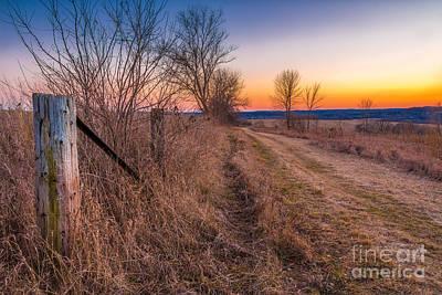 Retzer Sunset Path Art Print