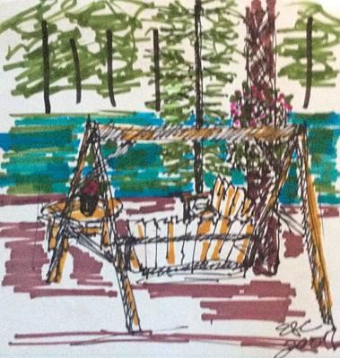 Drawing - Reunion. 2 by Erika Chamberlin