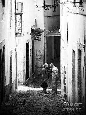 Photograph - Reunion In Lisbon by John Rizzuto