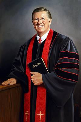 Painting - Rev Guy Whitney by Glenn Beasley