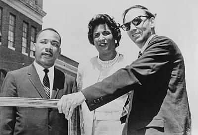 Rev. Martin Luther King Left Art Print