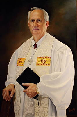 Painting - Rev Sieg Johnson by Glenn Beasley