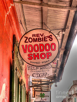 French Quarter Photograph - Rev. Zombie's by David Bearden