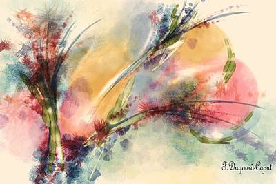 Digital Watercolor Painting - Reve by Francoise Dugourd-Caput