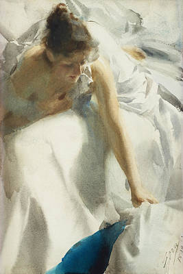 Clothes Digital Art - Reveil by Anders Zorn