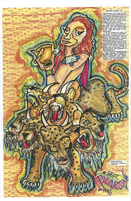 Abomination Painting - Revelation 17 The Mother Of Harllots by D Picarson