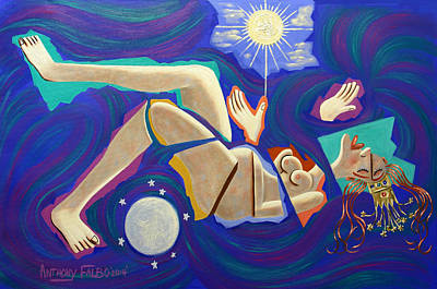 Pregnant Painting - Revelation Chapter 12-1 by Anthony Falbo