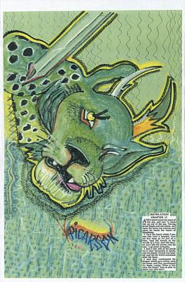 Revelation  Thirteen The Beast Art Print by D Picarson