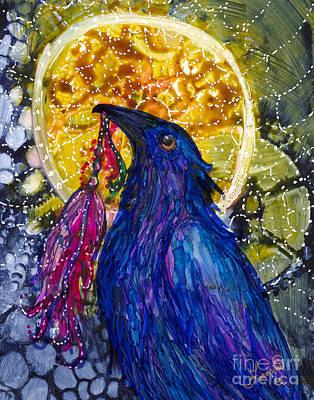 Painting - Reveling Raven by Francine Dufour Jones