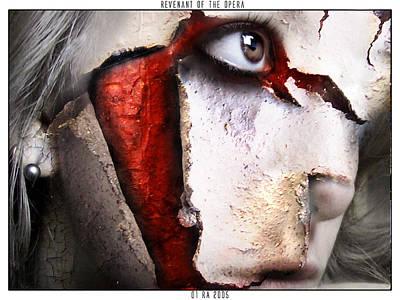 Scary Digital Art - Revenant Of The Opera by Robert  Adelman