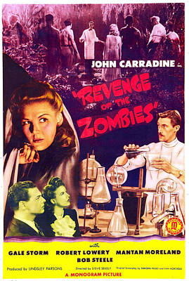 Horror Movies Photograph - Revenge Of The Zombies, Us Poster by Everett