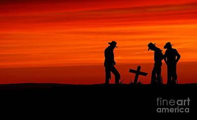 Cowboy Reverence Art Print