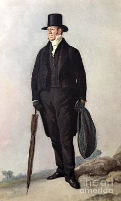 Conybeare Photograph - Reverend William Buckland, 1843 by Paul D. Stewart