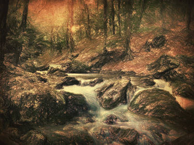 Waterscape Painting - Reverie Au Bord De L'eau by Taylan Apukovska