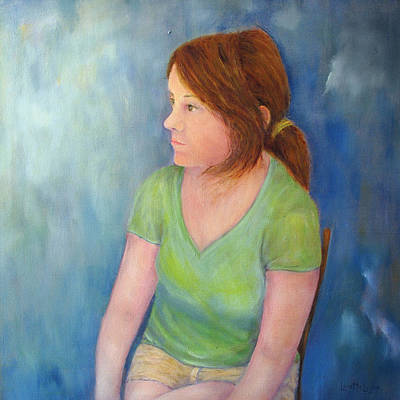 Painting - Reverie Of A Young Woman by Loretta Luglio