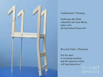 Sculpture - Reversal Chair Prototype by Mojo Mendiola