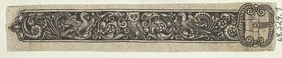 Theodor De Bry Drawing - Reverse Copy Of A Design For A Buckle by after Theodor de Bry