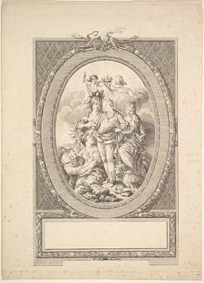 Reverse Copy Of Allegory Of Louis Xvi Art Print