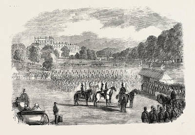 Review Of Derbyshire Rifle Volunteers At Chatsworth Park Art Print