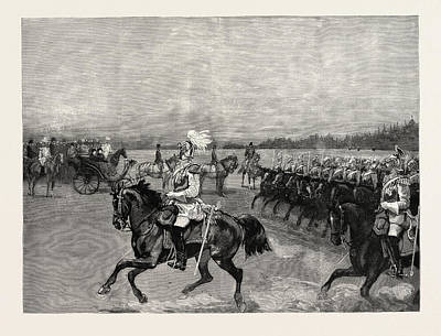 Review Of The Garde Du Corps Before The Queen Print by German School