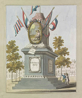 Revolution, Decorations On The Place Royale Art Print by A. Verkerk And Johannes Roelof Poster