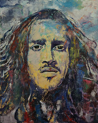 Hair Abstract Art Painting - John Frusciante by Michael Creese