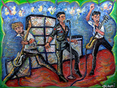 Big 3 Painting - Revolution Rock The Clash by Jason Gluskin