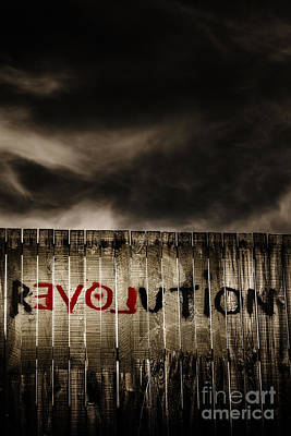 Revolution. The Writings Is On The Wall Print by Jorgo Photography - Wall Art Gallery