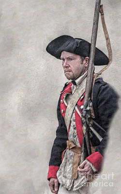 Revolutionary War American Soldier Two Art Print by Randy Steele