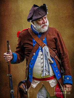 Photograph - Revolutionary War Reenactor by George Garbeck