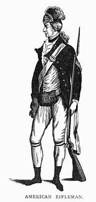 Revolutionary War Rifleman Art Print by Granger