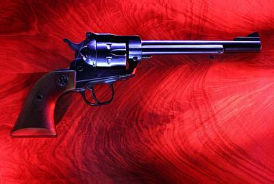 Photograph - Revolver On Red by David Andersen