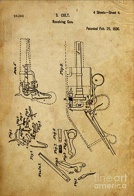 Royalty-Free and Rights-Managed Images - Revolving Gun - Patented on 1836 by Drawspots Illustrations
