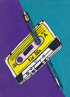 Rewind To The 80s Art Print by Kid 80s