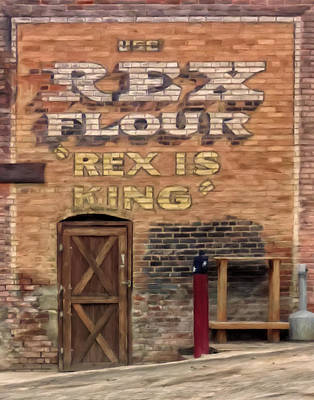 Art Print featuring the painting Rex Is King by Michael Pickett