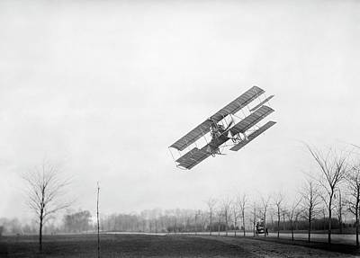 1910s Photograph - Rex Smith Airplane Flight by Library Of Congress