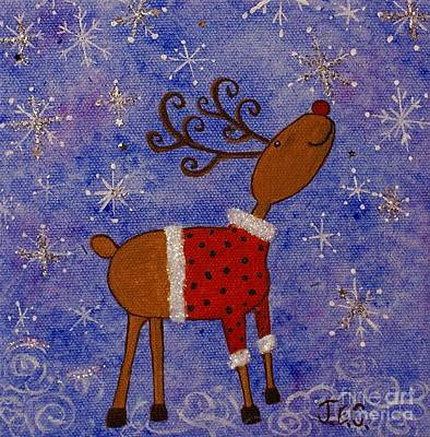 Painting - Rex The Reindeer by Jane Chesnut