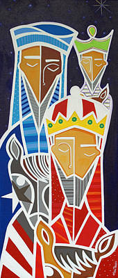 Colorfull Painting - Reyes Magos  by Mary Tere Perez