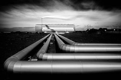 Geothermal Photograph - Reykjanesvirkjun by Dave Bowman