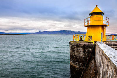 Art History Meets Fashion - Reykjavik harbor lighthouse by Alexey Stiop