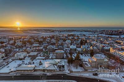 Cityspace Photograph - Reykjavik Sunset by Bahadir Yeniceri