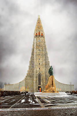 Photograph - Reykjavik Landmark by Maria Coulson