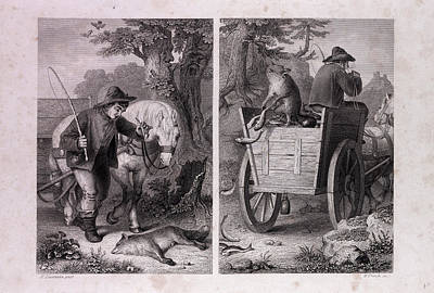 Reynard And The Fish Cart Art Print