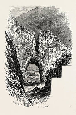 Cavern Drawing - Reynards Cave, Dove Dale, The Dales Of Derbyshire by English School