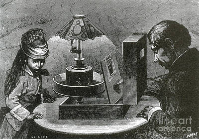 Invention Of Motion Photograph - Reynauds Praxinoscope For The Home, 1883 by Science Source