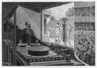 Optical Illusion Drawing - Reynaud's Praxinoscope Or  'theatre by Mary Evans Picture Library