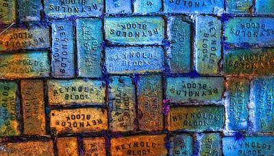 Masonry Painting - Reynolds Blocks - Vintage Art By Sharon Cummings by Sharon Cummings